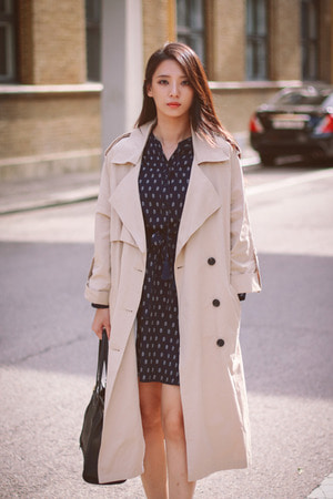 TONSOM OVER FIT Trench Coat